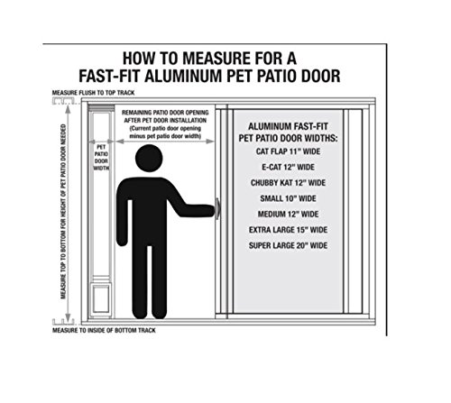 Amazon Ideal Pet Products 80 Fast Fit Aluminum Pet Patio Door