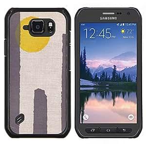"Be-Star Único Patrón Plástico Duro Fundas Cover Cubre Hard Case Cover Para Samsung Galaxy S6 active / SM-G890 (NOT S6) ( Sun Amarillo Gris minimalista Desierto"" )"