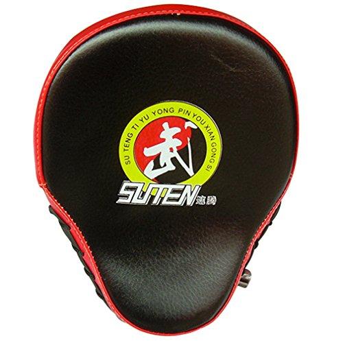 Punching Mitts, Boxing Pads, ADiPROD (1 PCS) Gym Training Focus Target Punch Pad Glove Mitt MMA Karate Combat Thai Kick (Black)