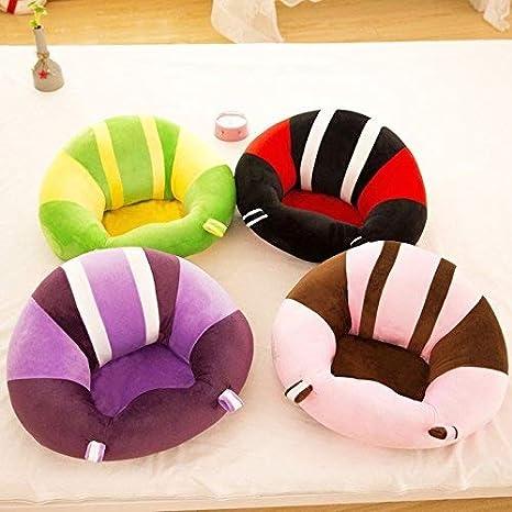 Smartrich bambino del cotone morbido supporto sedile colorato modello cuscino divano peluche giocattoli per bambini mobili rotonda sedia