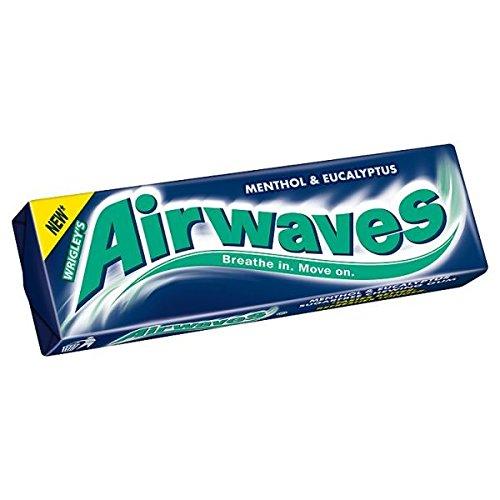 Airwaves Menthol & Eucalyptus Flavour Sugarfree Chewing Gum 10 Pellets 30 x 15g