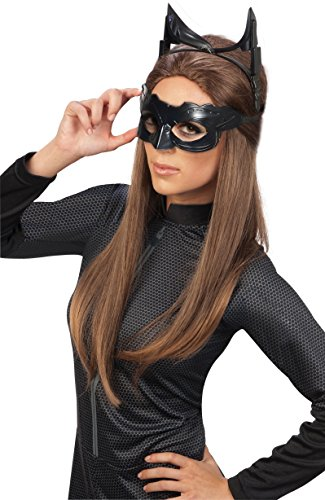 Batman Black Mask Mask For Sale (Batman The Dark Knight Rises Deluxe Catwoman Goggles mask, Black, One Size)