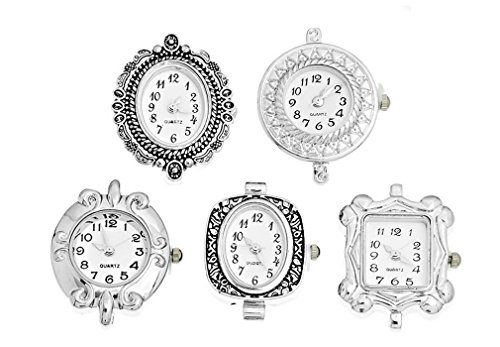Souarts Mixed Quartz Watches Faces Decorative Pattern Pack of (Charm Watch Face)