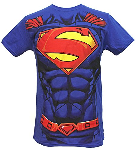 DC Comics Superman Suit Men's Costume T-Shirt (X-Large)