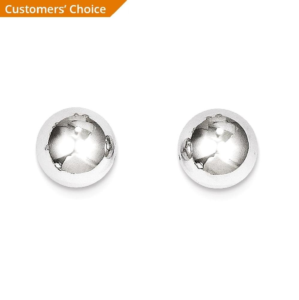 ICE CARATS 14k White Gold 8mm Ball Post Stud Earrings Fine Jewelry Gift Set For Women Heart by ICE CARATS (Image #2)