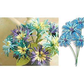 Azul Turquesa Flores De Papel De Origami De Scrapbooking