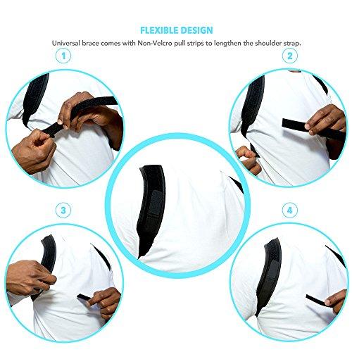 Posture Corrector - Posture Brace - Upper Back Posture Support - Clavicle Orthopedic Support Posture Corrector - Kyphosis Unnoticeable Posture Corrector - Shoulder Support Adjustable [eBook Included] by AireSupport (Image #4)