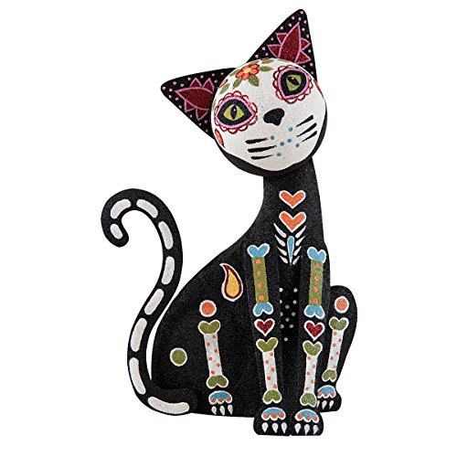 C&F Home Standing Day of the Dead Cat Black -