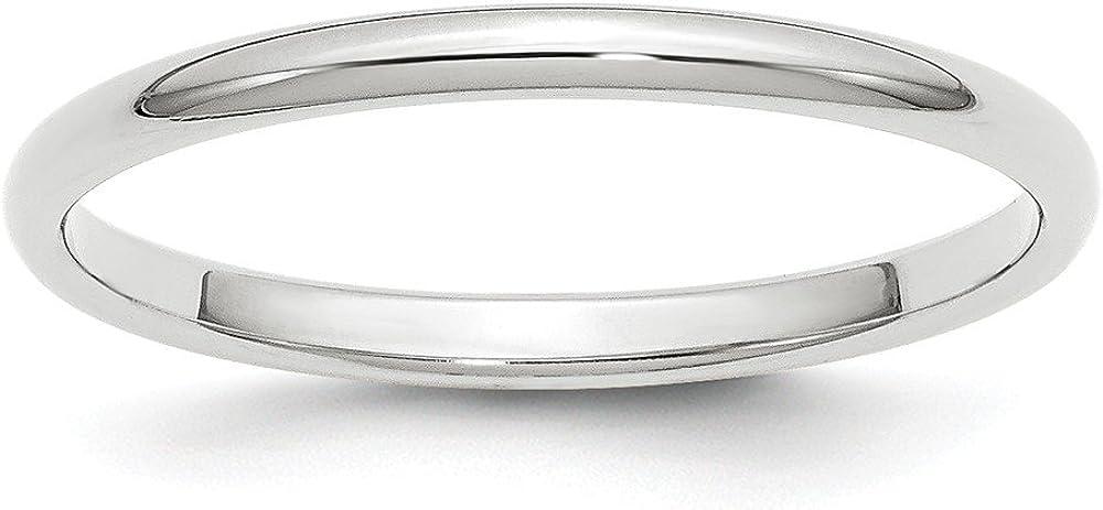 Jewelry Best Seller 14KW 2mm Half Round Band Size 8.5