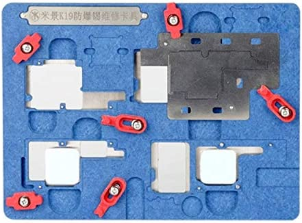 Family Must-Have Repair Tool Compatible with iPhone X K19 Motherboard Fixture Tool Explosion-Proof Cooling Tin Platform for Phone Convenient