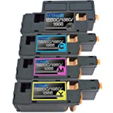 4 Replacement toner cartridges for Dell 1250c BK/C/M/Y Toner Cartridges replacement for Dell 1250c Combo Pack, Office Central