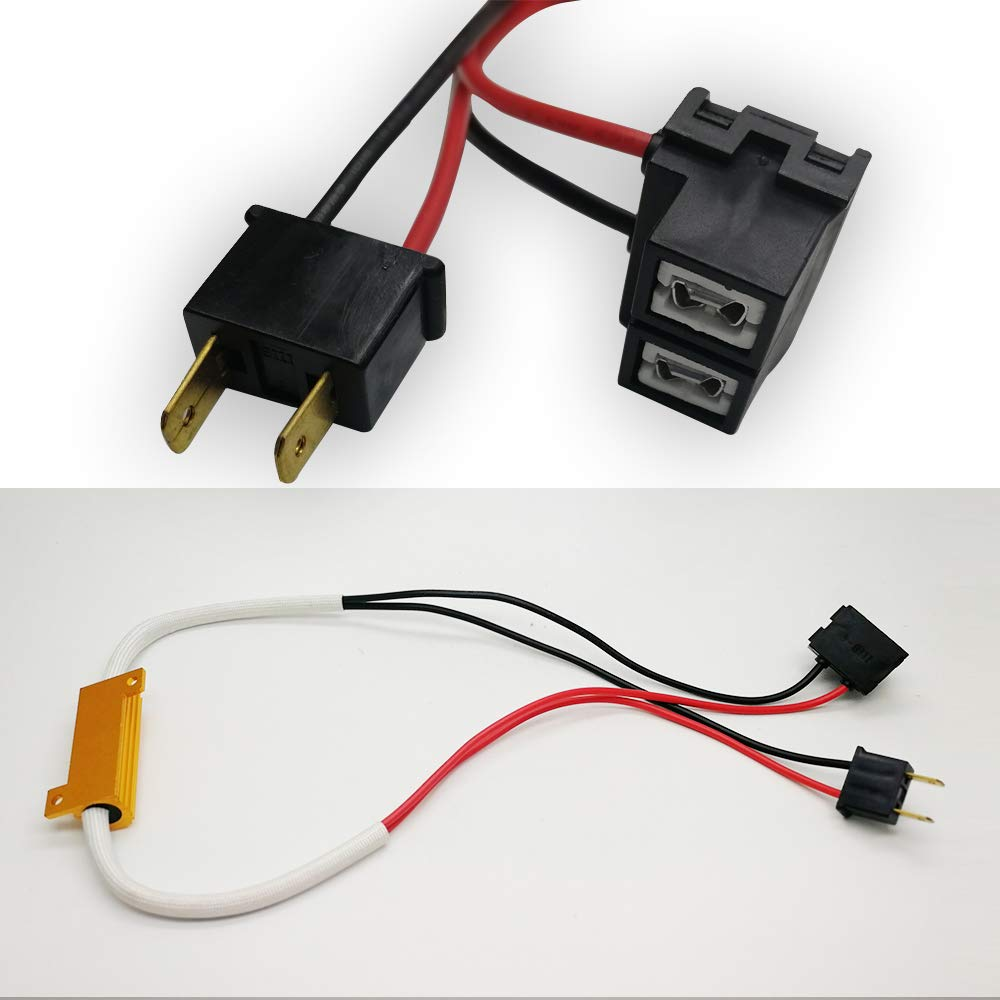 Led Anti Flicker Harness H7 Resistor for Led Fog Light Bulbs AnyCar H7 Canbus Decoder