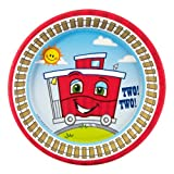 Two-Two Train 2nd Birthday Dessert Plates (8), Health Care Stuffs