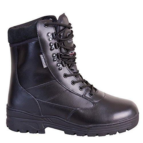 para negro Piel Hombre de Patrol Botas Kombat UK TnXq00