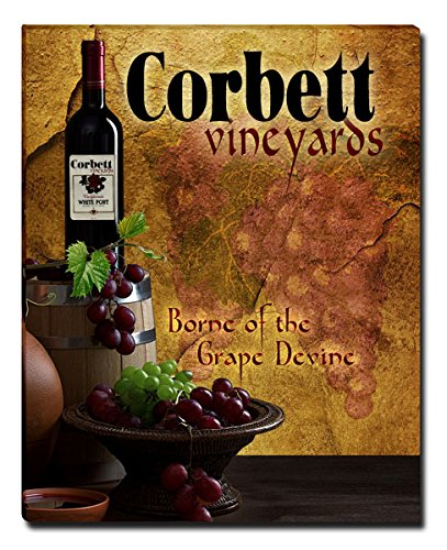 Corbett's Vineyards Grapes Wine Gallery Wrapped Canvas Print
