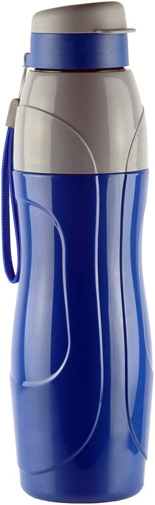 Cello Sports Water Bottle BPA Free 30 Oz (900 ml) Puro Sports Leak Proof Ergonomic Water with Wide Mouth and Easy Flip Top Cap for Office, Gym, Swimming, Running Reusable Drinking Containerby (Blue)