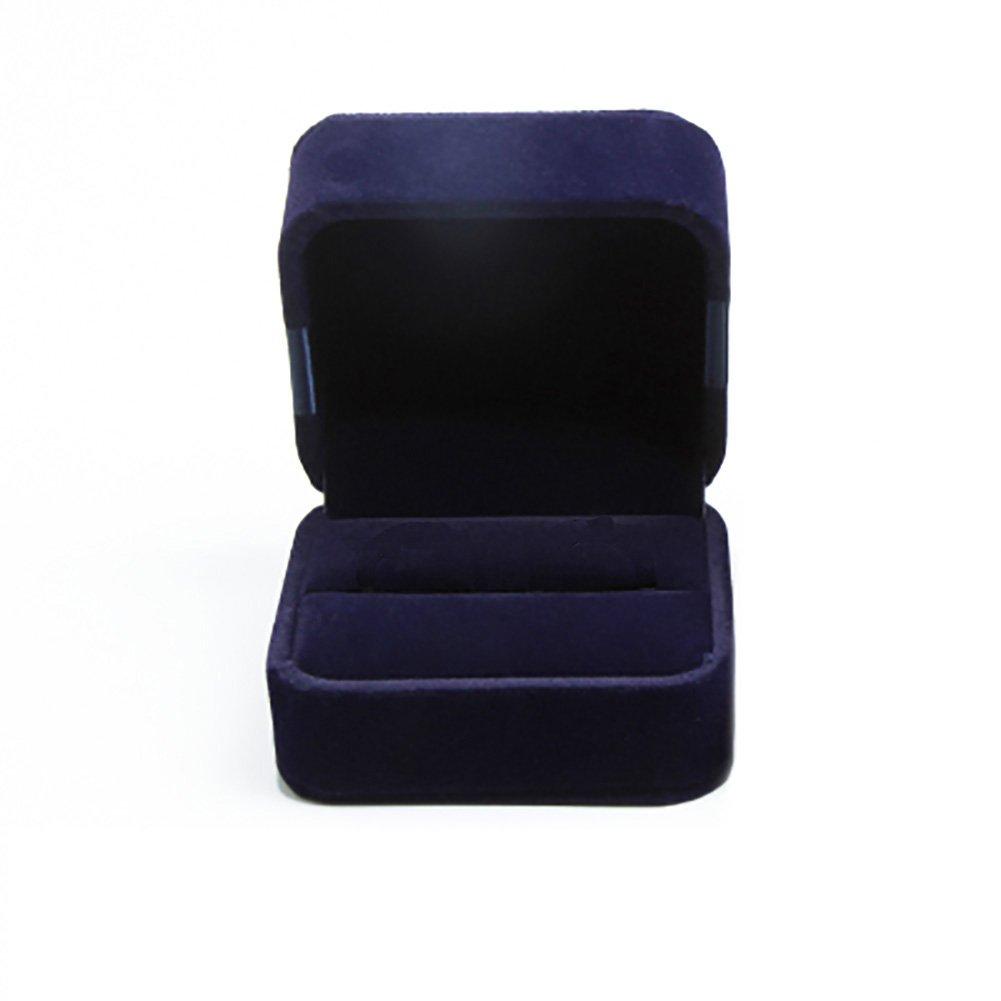 Bigboba, Scatola per anello di fidanzamento o matrimonio, colore: blu scuro, Dark Blue, 7.5x6.5x5.5CM