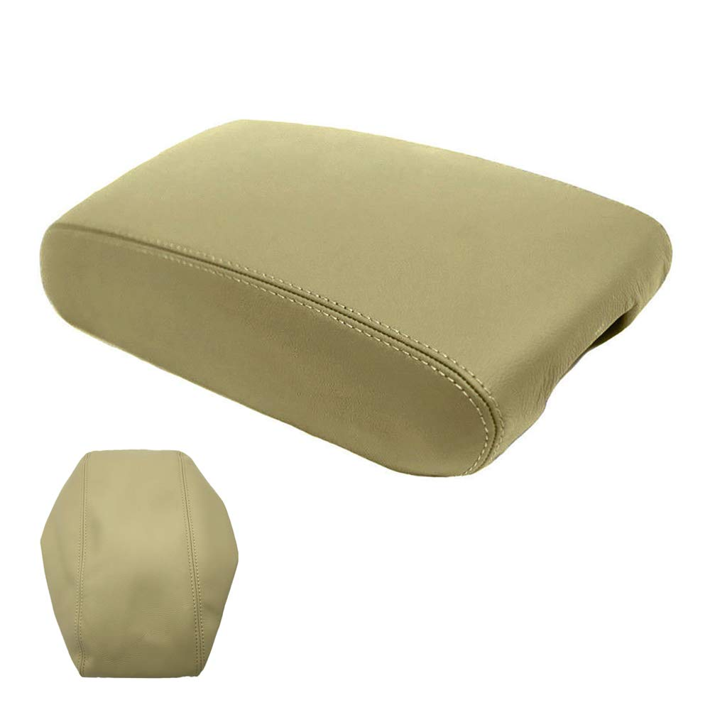 DSparts Center Console Lid Armrest Cover Leather for Jeep Grand Cherokee 2011-2017 Leather Part Only Beige