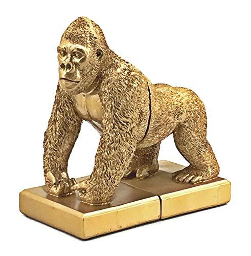 Bellaa 24193 Gorilla Bookends King Kong Bookshelf Decor 7.5 Tall