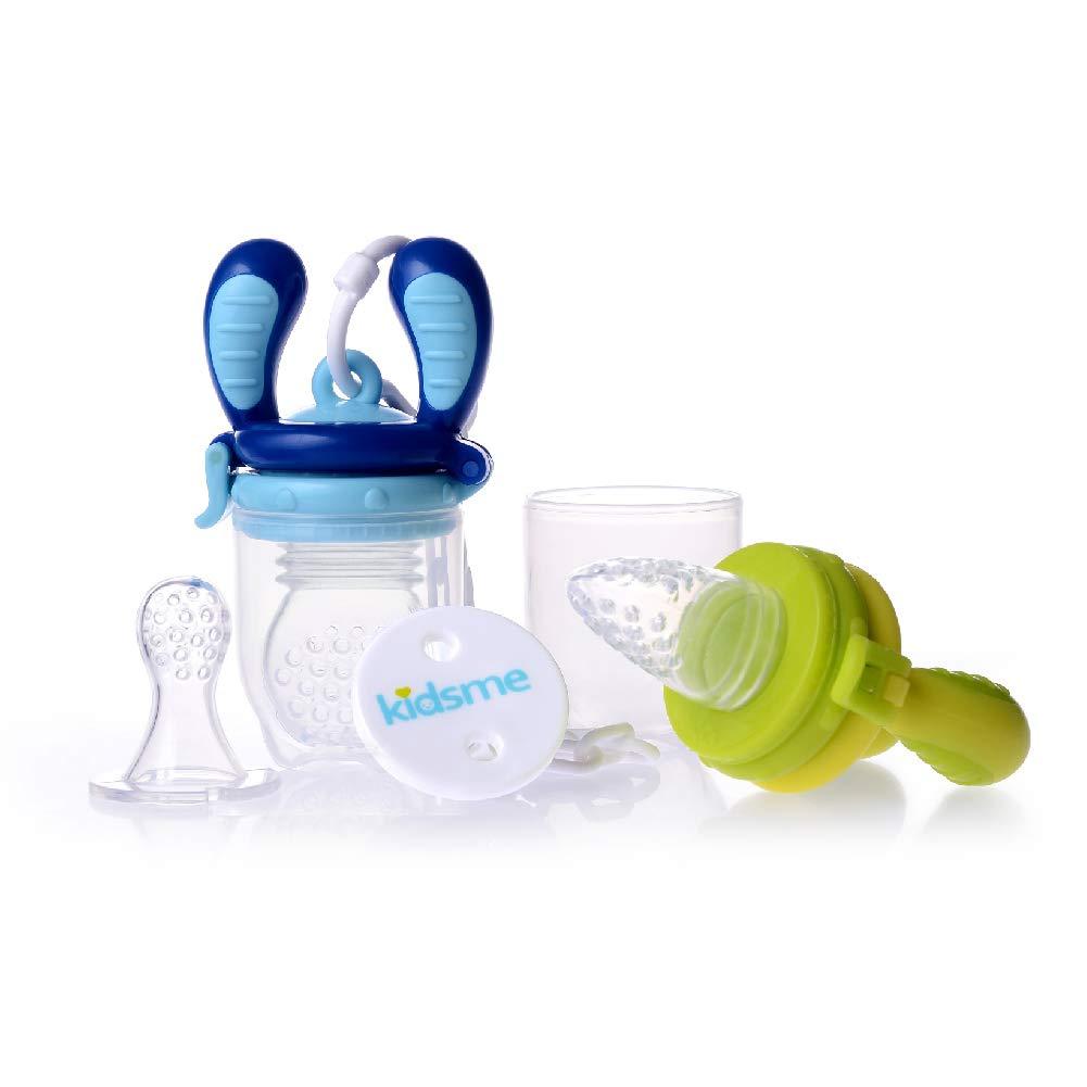 Kidsme Food Feeder Starter Pack (Lime and Aquamarine)