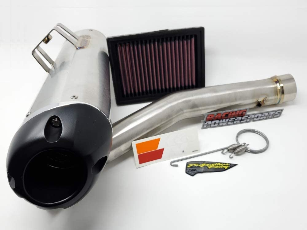 Two Brothers Exhaust KN Filter RPS PowerKit 3 Dynojet PV3 NGK compatible with Can-Am Ryker 900