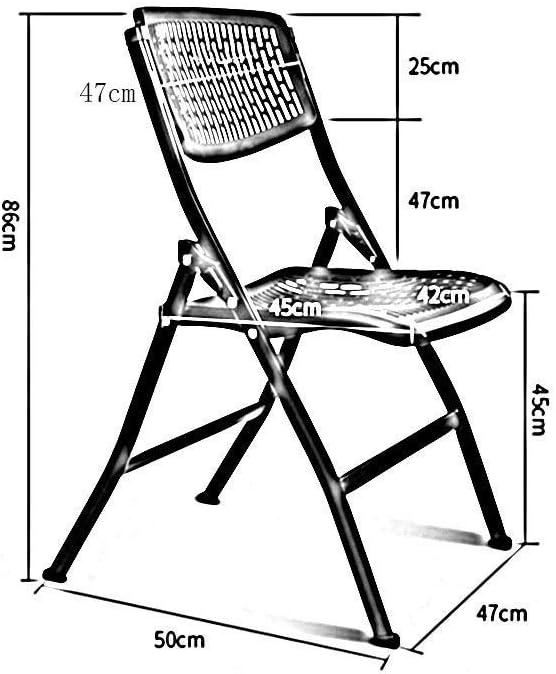BXZ Chaise pliante en plastique polyvalente de chaise, chaise de formation d\'ordinateur de chaise de conférence de bureau à domicile,gris Gris