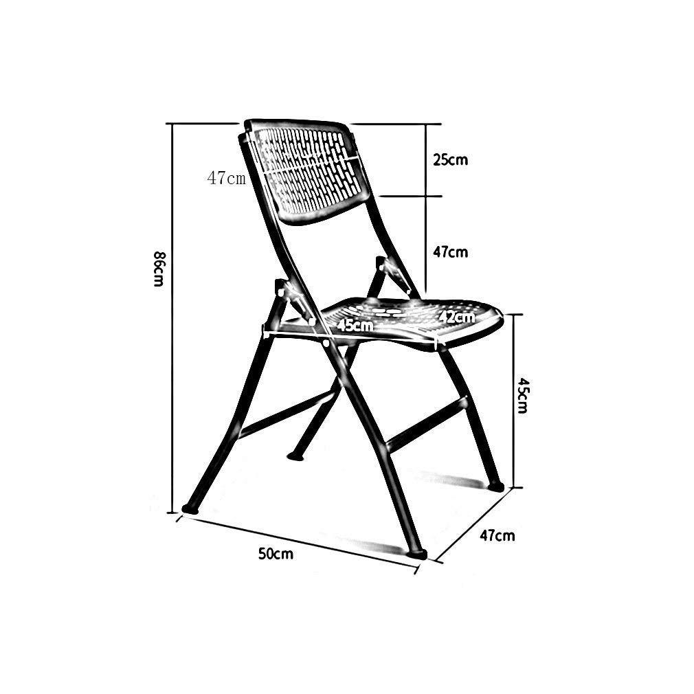 WLG Moderner unbedeutender Plastikklappstuhl-Erwachsener, der Stuhl-Büro-Trainings-Stuhl 2 Stück-Stapelstuhl-kreatives Haus speist,Grau