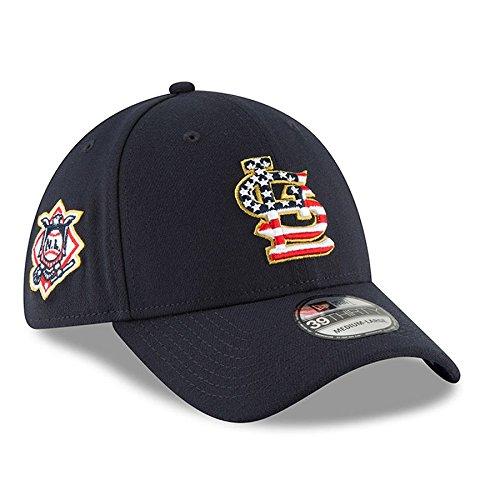 St. Louis Cardinals New Era 2018 Stars & Stripes 4th of July 39THIRTY Flex Hat Navy (New Era Stars)