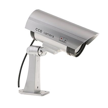 Sharplace Cámara Ficticia de Vigilancia de Seguridad de Interior Con Luz Accesorio de Seguridad de Vivienda