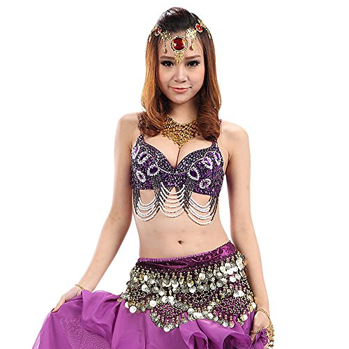 Samba Bollywood Cabaret Belly Dance Birthday Party Bra Tops Costumes Wear - Belly Cabaret Dance