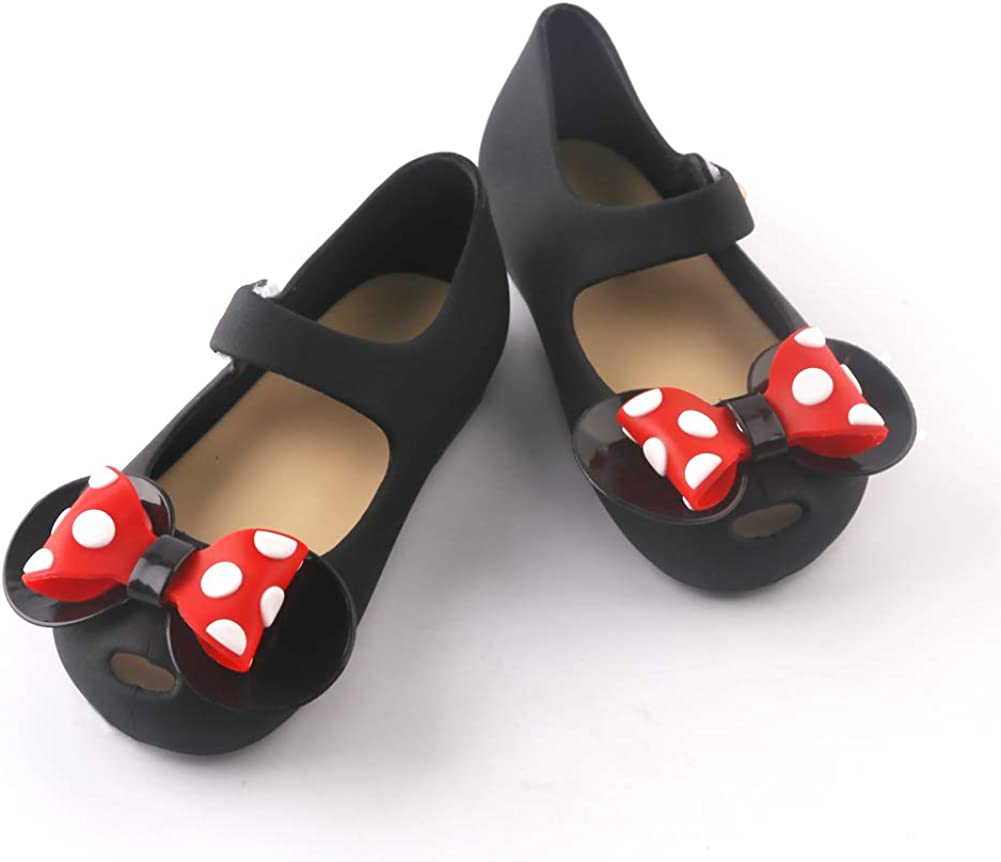 Girls Sweet Dot Bow Princess Sandals Shoes Mary Jane Flats for Toddler//Little Kid
