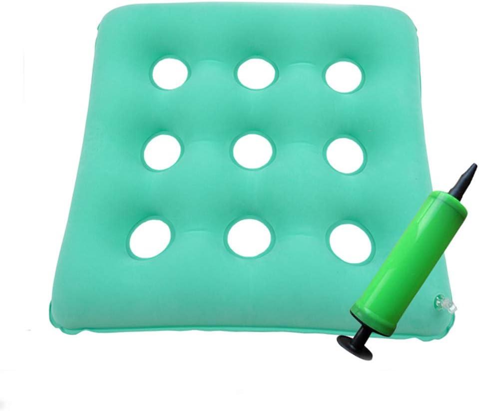 NADAEN Cojín de Asiento de Silla de Ruedas antiescaras 2in1 Asiento ortopédico Inflable de Aire y cojín de Respaldo para aliviar la Espalda Coccyx Seat Pad,Verde