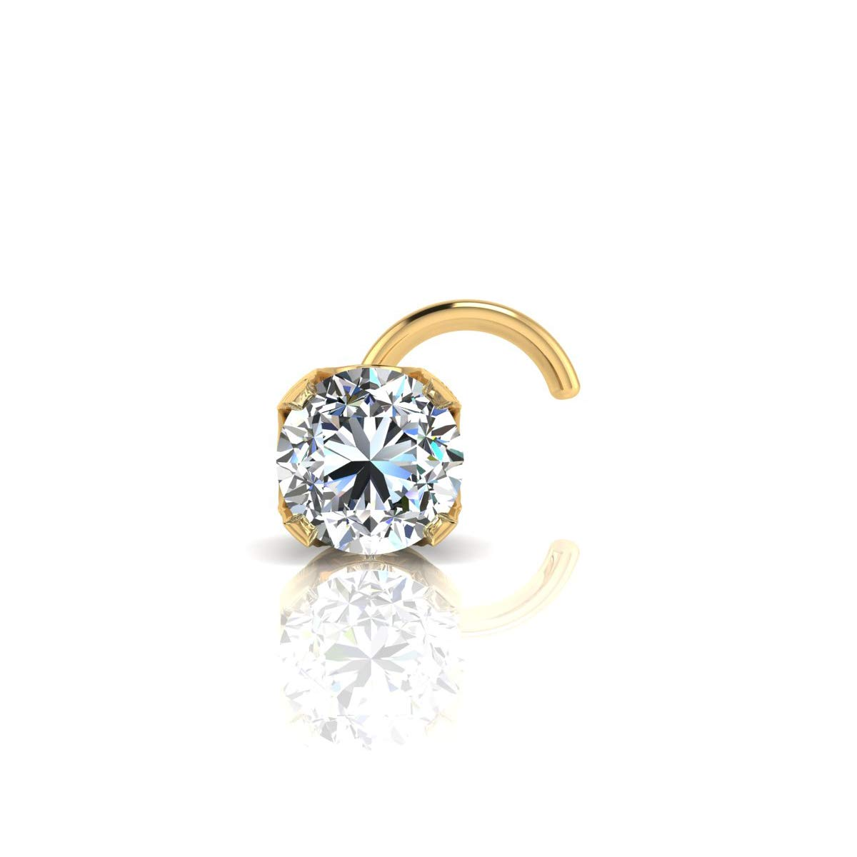 1.5mm 0.015 Carat Diamond Stud Nose Ring Available In 14K White and 14K Yellow Gold Sparkle Bargains SB011601-NWLB 14Y