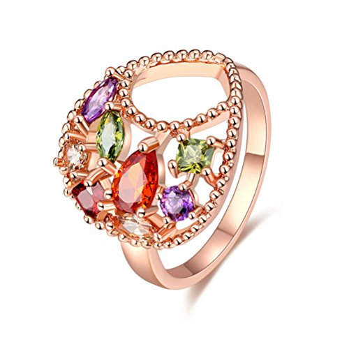 Mrsrui Vintage Princess Crown Tear Cross Crystal Cocktail Statement Ring Gift For Her (8)