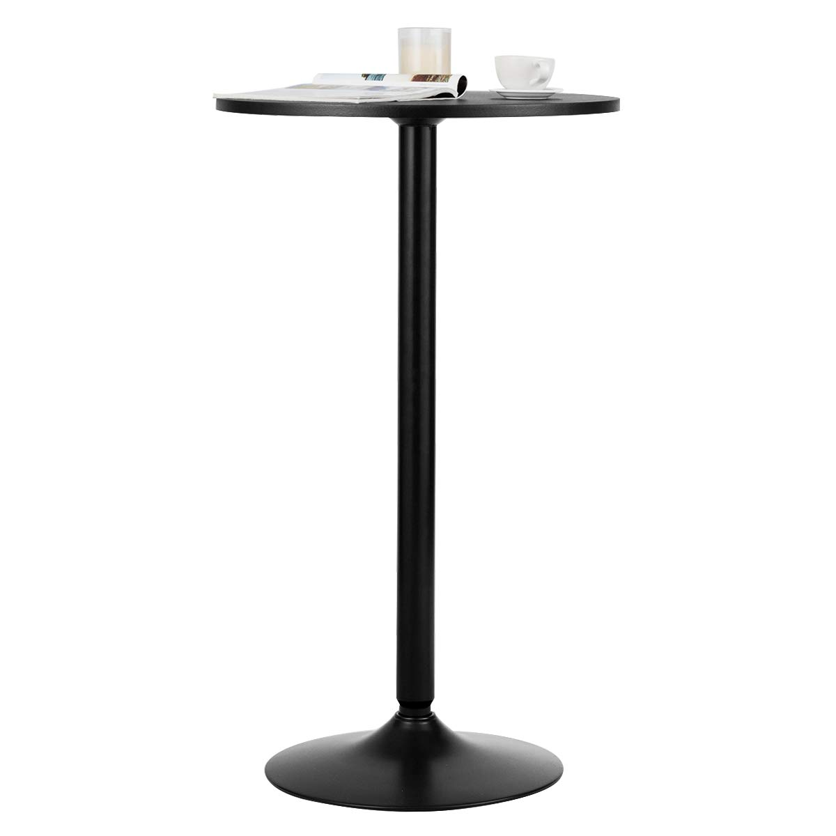 Giantex Pub and Bar Table 24-Inch 40-Inch Height Modern Style Round Top Standing Circular Cocktail Table Suitable for Living Room, Kitchen, Outdoor& Indoor Bistro Table (2) by Giantex