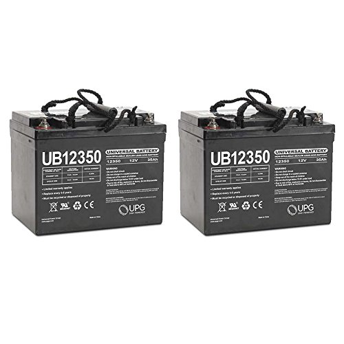 UB12350 12V 35AH Internal Thread Battery for CHAUFFER ,C SERIES,MWD - 2 Pack by Universal Power Group