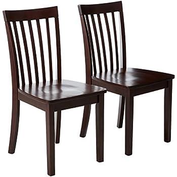 Stupendous Amazon Com Acme 0 Set Of 2 Solid Hardwood Dining Chair Machost Co Dining Chair Design Ideas Machostcouk