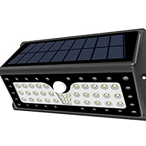 SOLAR LIGHTS, Lampat Outdoor 62 LEDs, Super Bright Motion Sensor Lights with Wide Angle Illumination, Wireless Waterproof Security Lights for Wall, Driveway, Patio, Yard, Garden