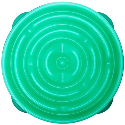 Kyjen 2870 Slo-Bowl Slow Feeder Slow Feed Interactive Bloat Stop Dog Bowl, New,
