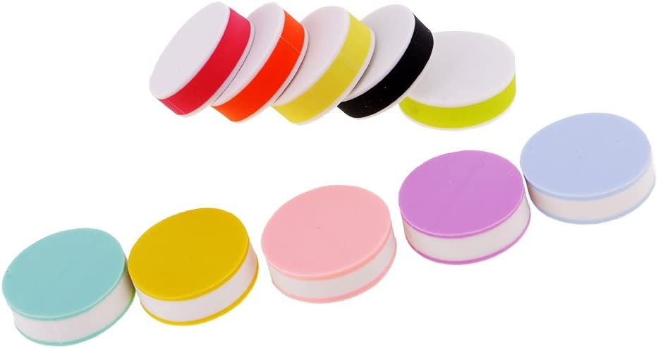 Dovewill 10 Pieces Assorted Color Round Rubber Carving Blocks for DIY Rubber Stamp Making Embossing Toys 25mm