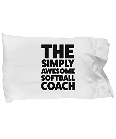 Amazon.com: Softball Coach funda de almohada de regalo para ...