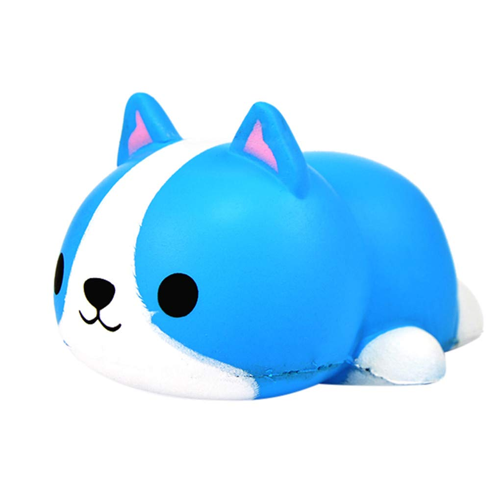 Dinlong Cute Beauty Rabbit Slow Rising Scented Novelty Reliever Stress Toys for Kids (Blue)