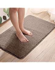 Telgoner Alfombrilla de baño, antideslizante, lavable, 50 x 80 cm, suave alfombra de baño de chenilla, secado y resistente al moho, para cuarto de baño, cocina, rápido