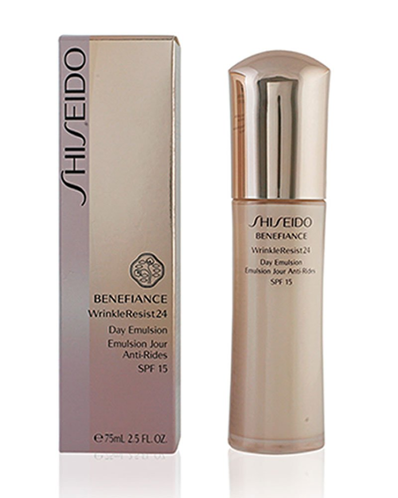 Benefiance WrinkleResist24 Day Emulsion SPF 15 by Shiseido for Unisex - 2.5 oz SPF Makeup 768614103066 36215