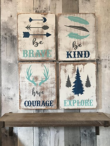 Rustic nursery décor, woodland theme nursery, nursery signs, YOU PICK COLORS