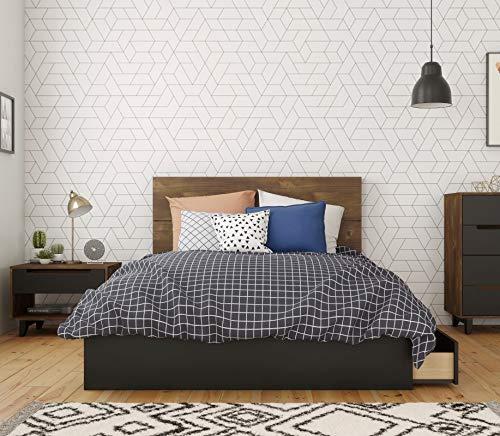 Nexera Liberia 3 Piece Full Size Bedroom Set, Truffle & Black