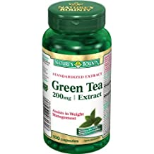 Nature's Bounty Green Tea 200mg - Extract 100 count