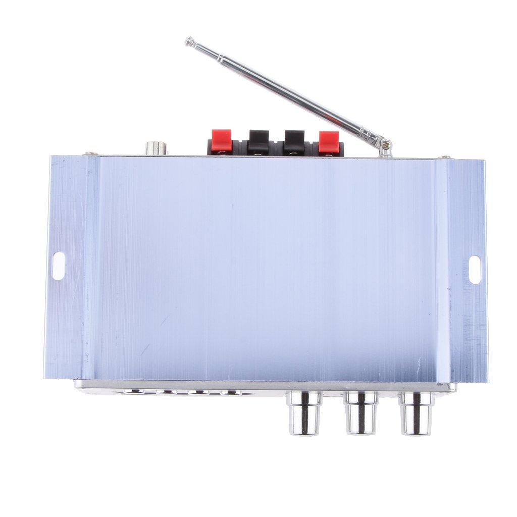 Hy502 Fm Mp3 Altavoz Reproductor de Audio Est/éreo de Autom/óvil Amplificador Hi-Fi