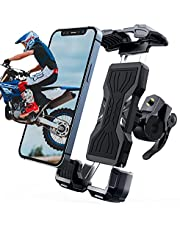 """Bike Phone Mount,HEIYING Motorcycle Phone Holder with Adjustable Clip for 4.7"""" - 6.8"""" Devices,Useful Bike Phone Holder Compatible with iPhone 13/13Pro/12/12 Pro Max/11/X/8 Series."""
