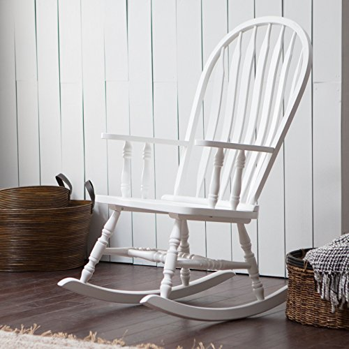 Windsor Childs Rocker (White Finish Country Manor Wood Windsor Style Rocking Chair Rocker Living Room Nursery)